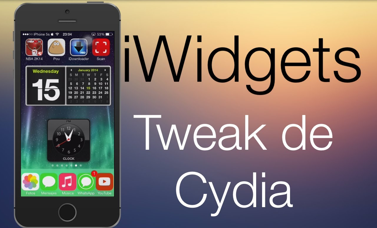 iWidget Cydia tweak & apps